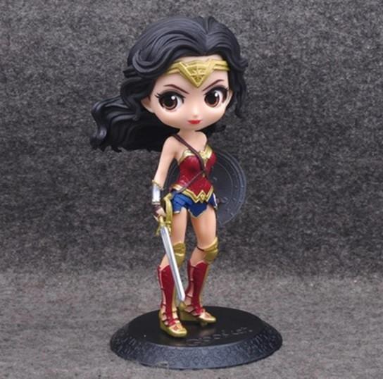 Оригинальные статуэтки Wonder Woman в стиле аниме персонажа, Фигурки Чудо-женщины, Аниме.