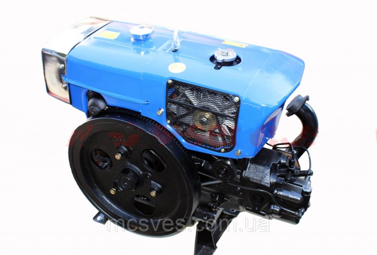 Двигатель мотоблочный в сборе + стартер 15л.с. (завод ZUBR) ZH1100