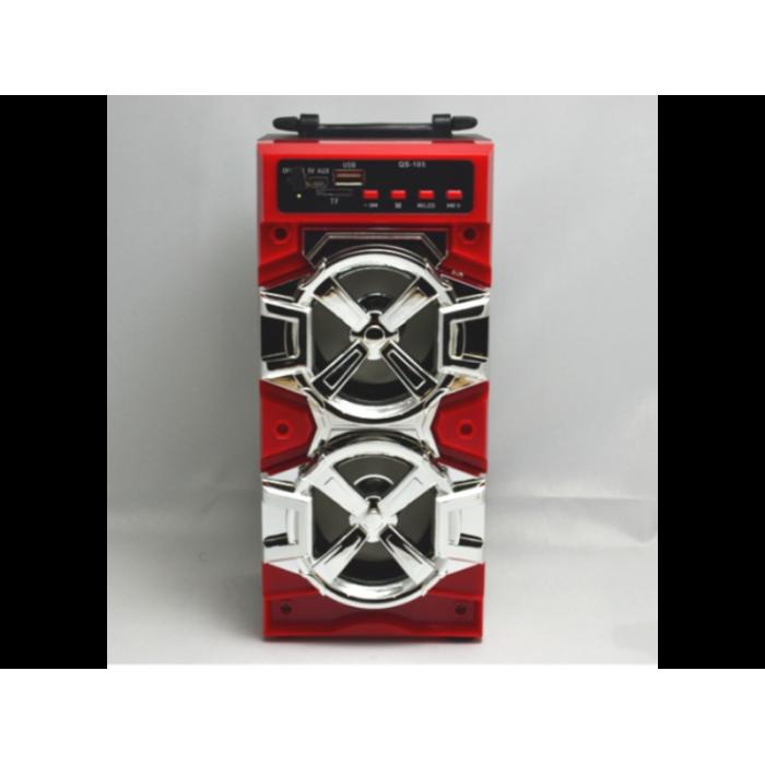 Портативная Bluetooth стерео колонка QS-105 с USB, MicroSD, FM