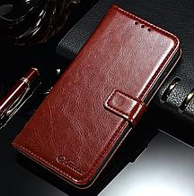 Кожаный чехол-книжка для Xiaomi Redmi 4 Pro коричневый