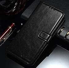 Кожаный чехол-книжка для Xiaomi Redmi 6 черный