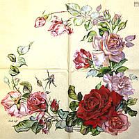 Декупажная салфетка Розы 1022