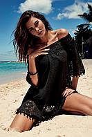 Кружевное пляжное платье на резинке Vacanze Italiane VI9-064 46(L) Черный Vacanze Italiane VI9-064