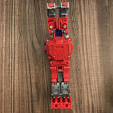 Детские Часы-трансформер Оптимус Прайм. Робот-трансформер и наручные часы 2 в 1, фото 3