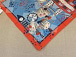 Платок хлопковый (батист) 10340-5, павлопосадский платок хлопковый (батистовый) с подрубкой, фото 3