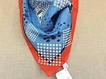 Платок хлопковый 10340-5, павлопосадский платок хлопковый (батистовый) с подрубкой  Стандарт, фото 6