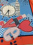 Платок хлопковый 10340-5, павлопосадский платок хлопковый (батистовый) с подрубкой  Стандарт, фото 7