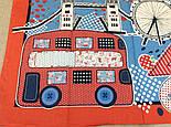 Платок хлопковый 10340-5, павлопосадский платок хлопковый (батистовый) с подрубкой  Стандарт, фото 8