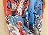 Платок хлопковый 10340-5, павлопосадский платок хлопковый (батистовый) с подрубкой  Стандарт, фото 9