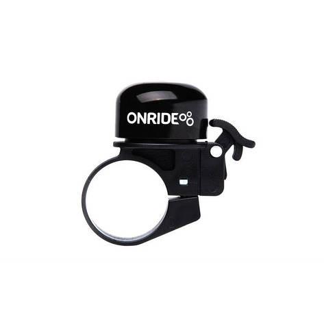 Дзвоник ONRIDE Din хомут 31.8 мм чорний, фото 2