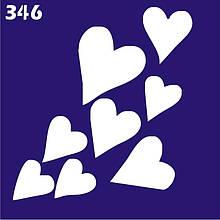 Трафарет для временного тату №346