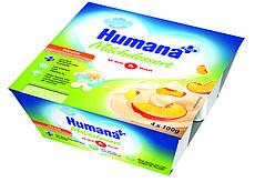 Продукт кисломолочный Humana Персик 4х100г