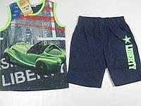 Костюм летний двойка (майка, шорты)  для мальчика, размеры 128,134, арт.CF 129