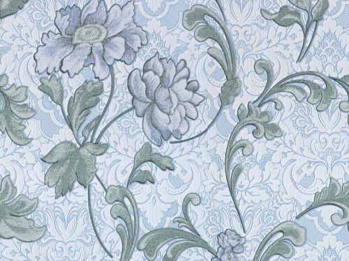 Обои на стену, винил, классика С 882-03, голубые, 0,53*10м