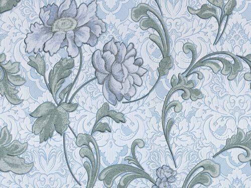 Обои на стену, винил, классика С 882-03, голубые, 0,53*10м, фото 2
