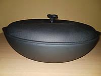 Чугунная сковорода жаровня с крышкой (d=400мм, h=90мм)
