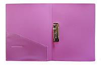 Папка с прижимом А4+карман Scholz 05500