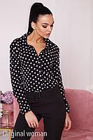 Женская принтованная рубашка прямого покроя 2BL227, фото 1