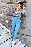 Женская шифоновая рубашка в леопардовый принт 2BL228, фото 1