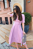 Летнее платье с пышной юбкой и коротким рукавом 2PL2524, фото 1
