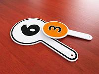 Табличка с ручкой из ПВХ, 110х200 мм (Вид: Двухсторонняя, аппликация;  Ламинация: Без ламинации;)