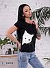 Женская летняя футболка с рисунком кошка 55FT181