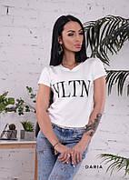 Женская прямая летняя футболка VLTN 55FT182, фото 1