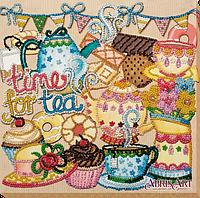 Набор для вышивки бисером на холсте Безумное чаепитие