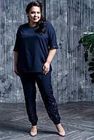 Женский брючный костюм с футболкой в больших размерах 10BA1583, фото 1
