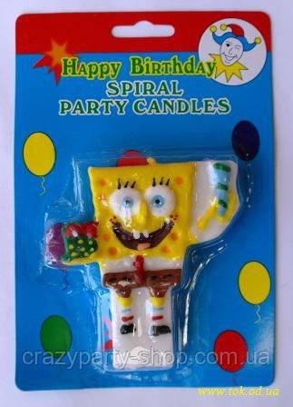 Свеча для торта Спанч Боб