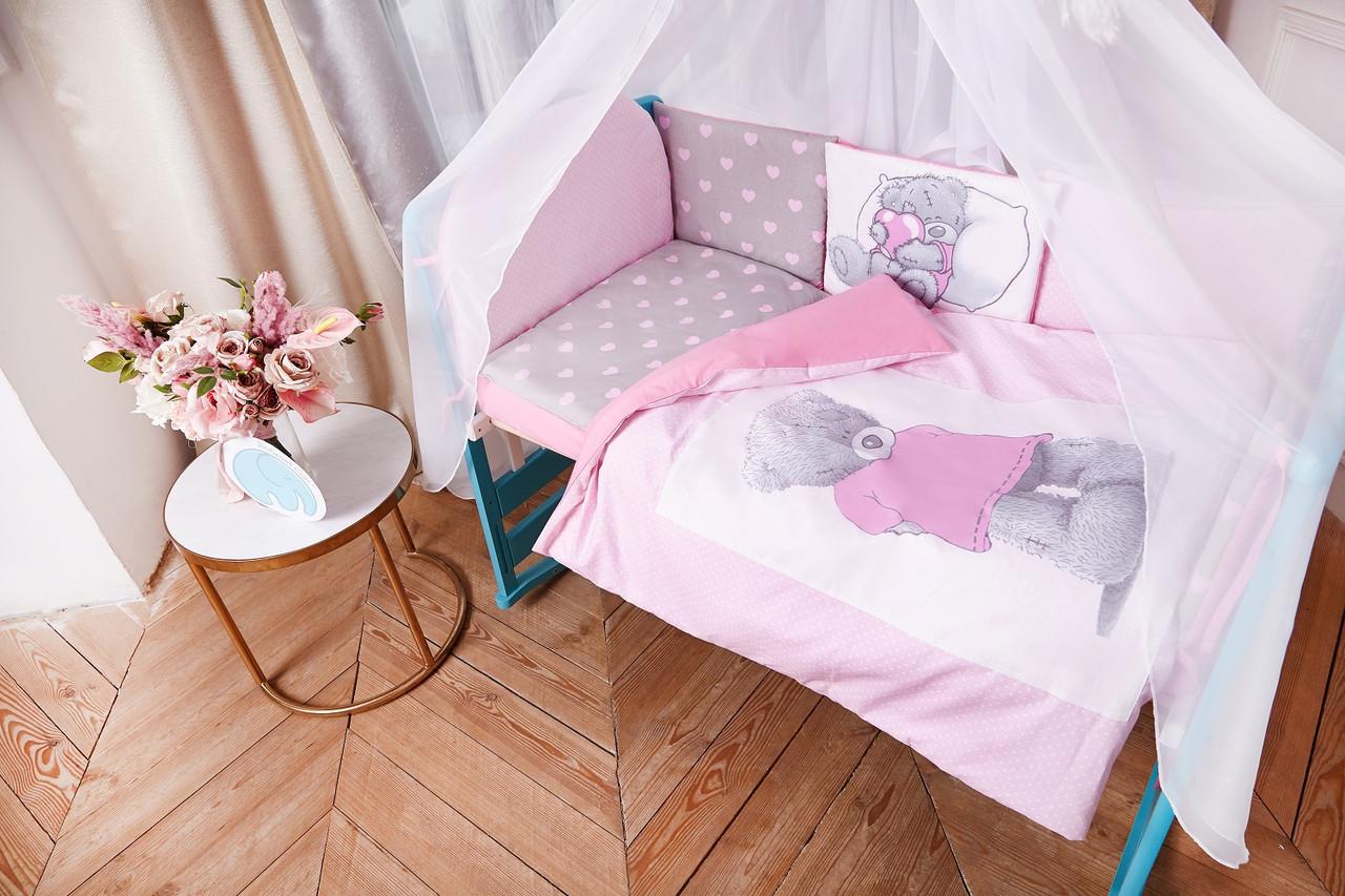 """Детское постельное белье в кроватку """"Тедди"""", в расцветках"""
