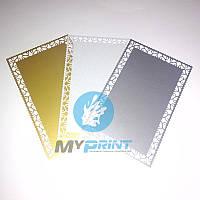 Металлическая визитка для сублимации фигурная