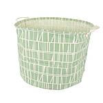 Корзина для игрушек, белья, хранения зеленая Узор Berni