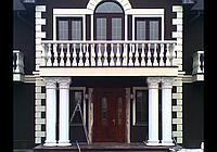 Изготовление колонн из гипса, фото 1