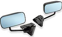 Боковые зеркала F1 black универсальные Pro-Sport с антибликом