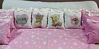 Комплект детского постельного белья из сатина в кроватку  для девочек
