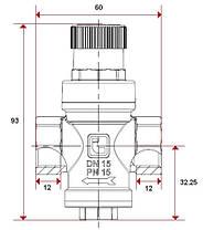 """Редуктор давления 3/4"""" ITAP 360 Minipress Италия, фото 2"""
