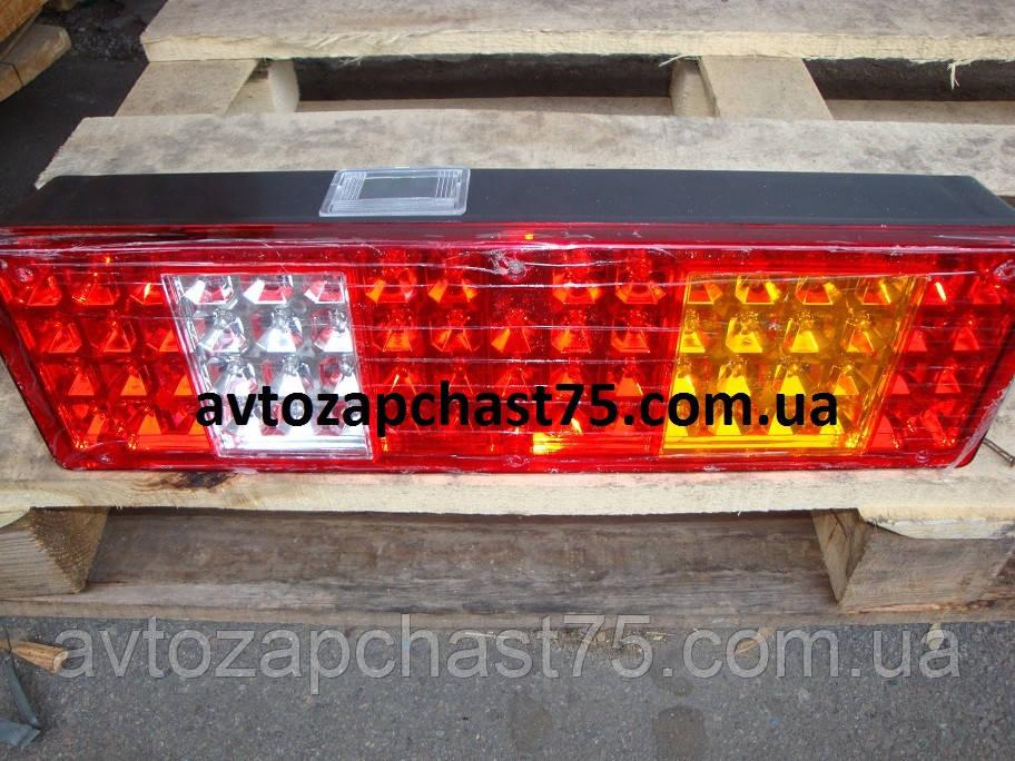 Фонарь МАЗ, КАМАЗ (ЕВРО) задний  с задним расположением разъема LED 24В