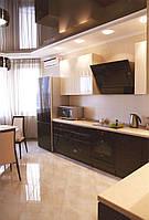 """Кухня """"Бежево - коричневая"""" (Цвет- бежевый глянец, коричневый глянец)"""