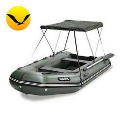 Тент для надувной моторной лодки Bark BT-420. (Лодочный тент на лодку 4,20м);