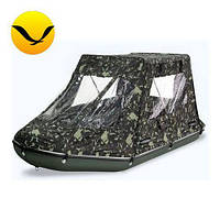 Палатка для надувной моторной лодки Bark BT-450. (Лодочная палатка на лодку 4,50м);