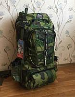 Рюкзак, туристический, комуфляжный, рыбацкий, военный, охотничий, на 70 литров, водонепроницаемый, надежный
