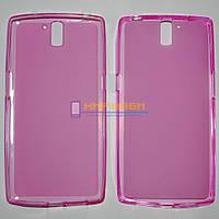 Чехол-бампер TPU силиконовый матовый OnePlus One розовый