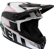 Велошлем Bell Full-9 белый/чёрный карбон Emblem (GT)