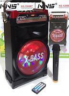 Мобильная колонка NS-1388BT NNS аккумулятор, радиомикрофон, Bluetooth
