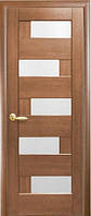 Дверное полотно Новый Стиль Ностра ПИАНА золотая ольха+стекло (40) De Luxe