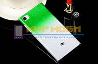Чехол-бампер пластик Капли Дождя XIAOMI MI3 M3 Зеленый