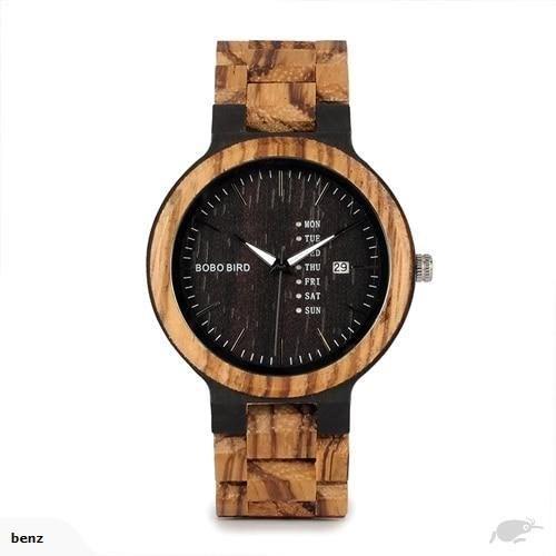 BOBO BIRD WO26 - наручные часы из дерева - Черный