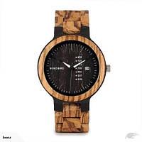 BOBO BIRD WO26 - наручные часы из дерева - Черный, фото 1