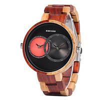 BOBO BIRD R10 - деревянные часы - Красный, фото 1